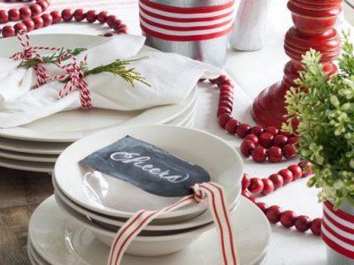 christmas decoration table